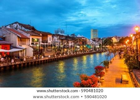 Colorful night in Malacca Stock photo © elwynn