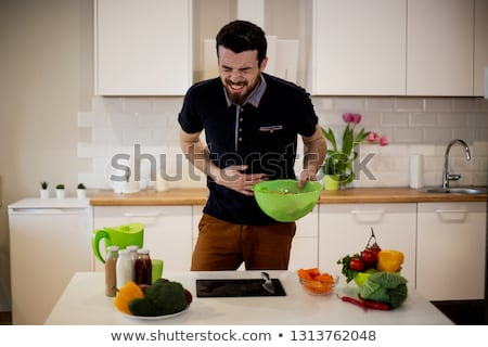 Fruit in the stomach Stock photo © Tefi