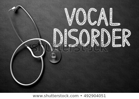 Vocal Disorder on Chalkboard. 3D Illustration. Stock photo © tashatuvango