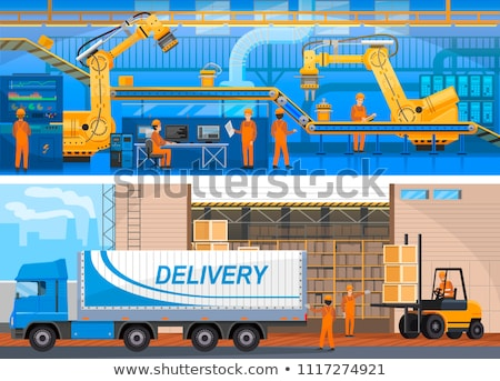 Production Line on Modern Factory Colorful Card Stock photo © robuart