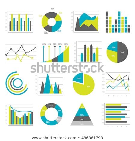 統計 カード チャート コレクション 孤立した ストックフォト © robuart