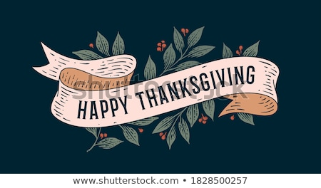 Happy Thanksgiving Day Poster with Signs Vector Stock photo © robuart