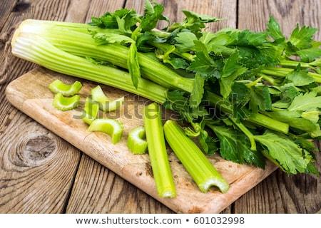 Friss zeller tál asztal étel levél Stock fotó © tycoon