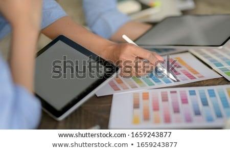 üzletemberek választ szín kéz különböző üzlet Stock fotó © AndreyPopov