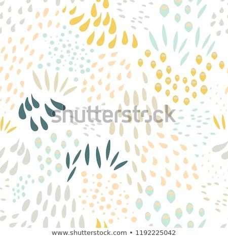 Firka egyszerű vektor kézzel rajzolt minta virágok Stock fotó © karetniy