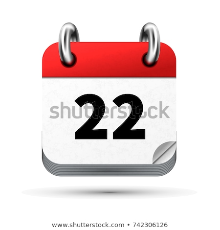 Bright realistic icon of calendar with 22 june date isolated on white Stock photo © evgeny89
