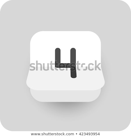 Simple black calendar icon with 4 september date isolated on white Stock photo © evgeny89