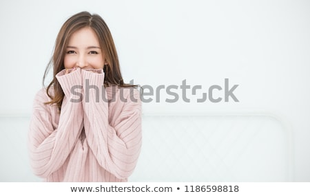 Attractive young asian woman wearing casual clothes Stock photo © deandrobot