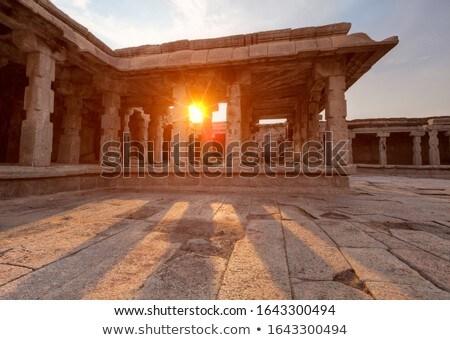 Кришна храма закат Индия крыльцо небе Сток-фото © dmitry_rukhlenko