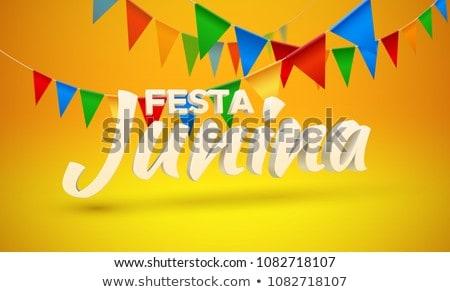 Przypadku plakat projektu Brazylia festiwalu szczęśliwy Zdjęcia stock © SArts