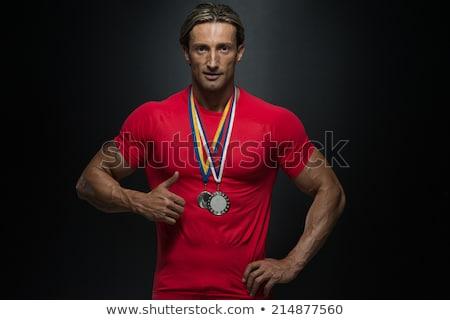 Milieu âge athlète concurrent gagner Photo stock © Jasminko
