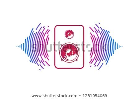 Akustik simge müzik kutu konuşmacı ikon Stok fotoğraf © robuart