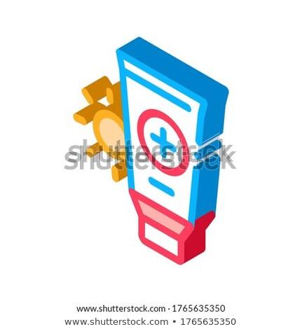 Güneş sağlık jel izometrik ikon vektör Stok fotoğraf © pikepicture