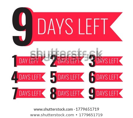 number of days left template in ribbon style Stock photo © SArts