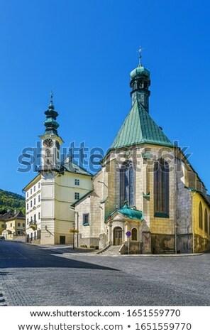 Church Of St Catherine Banska Stiavnica Slovakia Stockfoto © Borisb17
