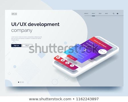 Móvel software otimização ui desenvolvimento vetor Foto stock © RAStudio