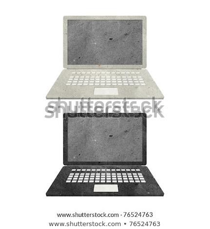 Recyclé papier bâton ordinateur livre Photo stock © rufous