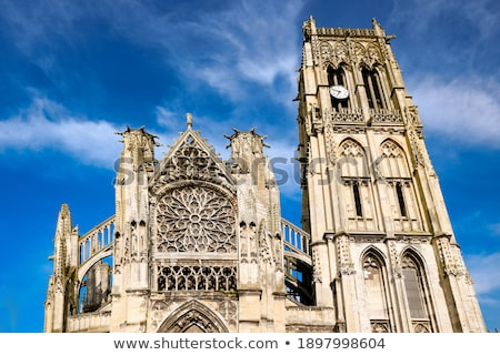 Tower of Saint Jacques church in Dieppe Stock photo © ivonnewierink