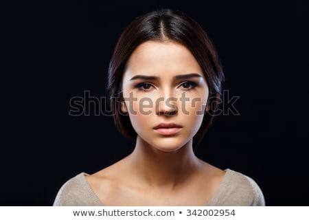 fiatal · gyönyörű · nő · depresszió · izolált · fehér · haj - stock fotó © dacasdo