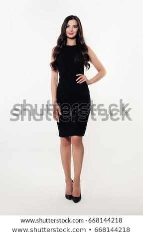 woman in black dress stock photo © dolgachov
