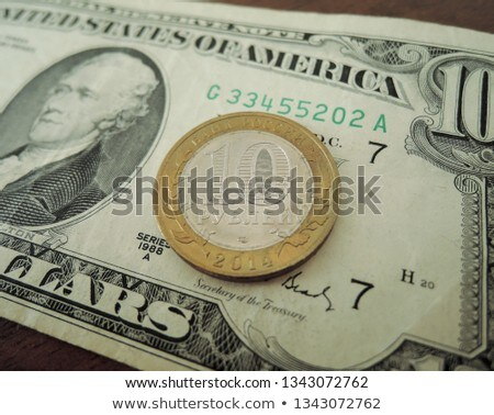 Russian ruble against the background of the Iron dollars Stock photo © Valeriy