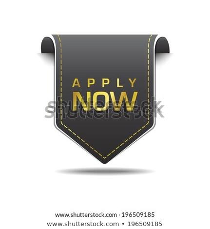 Apply Now golden Vector Icon Design Stock photo © rizwanali3d