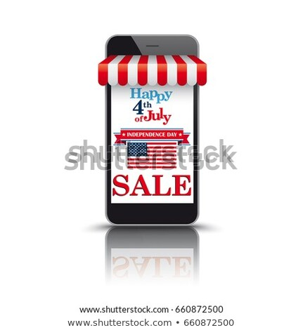 Mobile Phone with Red Awning Stock photo © timurock