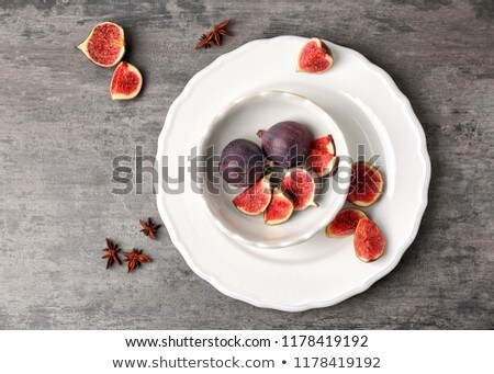 Plate of ripe figs Stock photo © Lana_M
