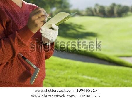 женщину играет гольф области фитнес Сток-фото © wavebreak_media