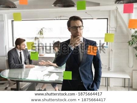 Stock photo: European speaker doing business presentation