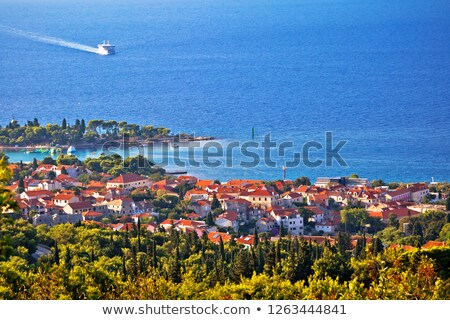 Town of Supetar and Brac island channel view stock photo © xbrchx