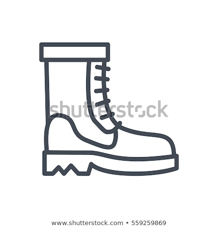 Flat design icon of hiking boot Stock photo © angelp