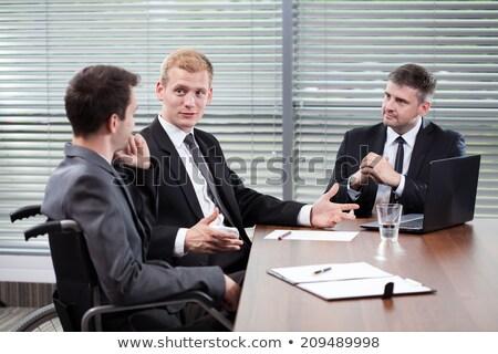 無効になって ビジネスマン 男性 マネージャ ストックフォト © AndreyPopov