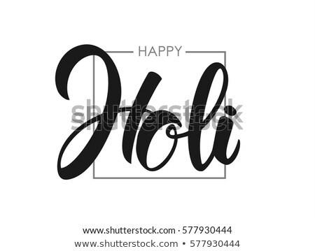 happy holi colorful hand prints banner design Stock photo © SArts