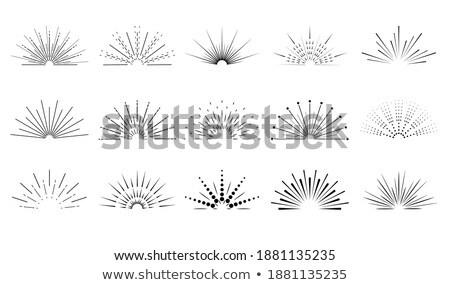 vintage sunburst rays and beams big collection Stock photo © SArts