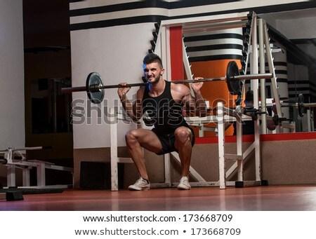 Geschikt mannen sport fitness gymnasium Stockfoto © Jasminko