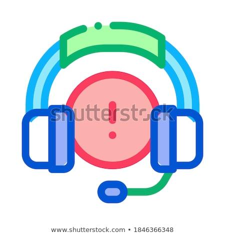 Distraído música fones de ouvido ícone vetor Foto stock © pikepicture
