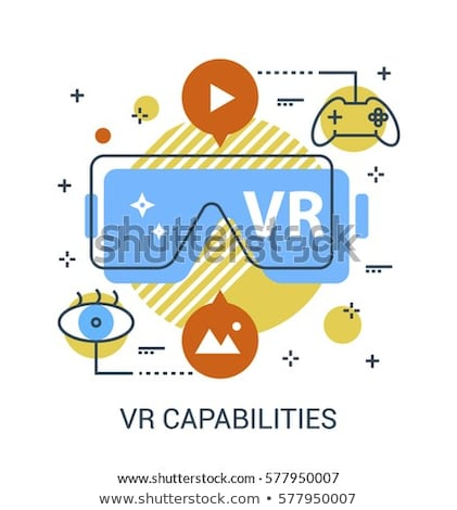 Interactieve virtueel realiteit website entertainment mensen Stockfoto © robuart
