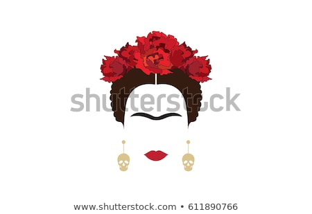 Cartoon portrait of Frida Kahlo Stock photo © shawlinmohd