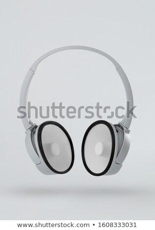 ヘッドホン スピーカー 白 音楽 技術 ラジオ ストックフォト © goir