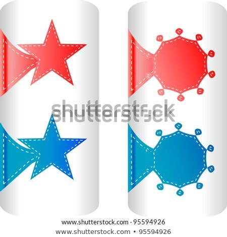 Stylish Colorful Set Of Labels In The Form Of Stars Badges Stock fotó © fotoscool
