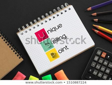 egyedi · elad · pont · ötlet · internet · technológia - stock fotó © latent