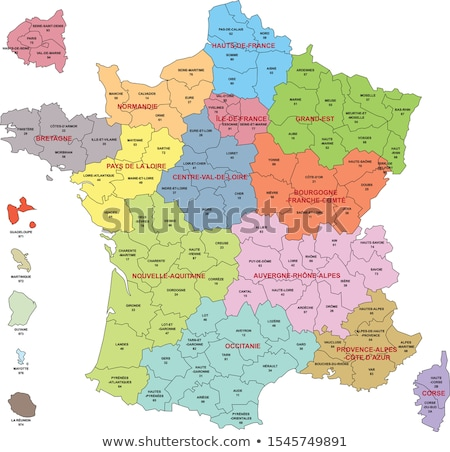 Map of France Stock photo © Schwabenblitz