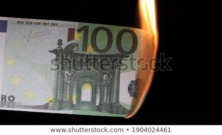 Burning one hundred Euros Stock photo © shutswis