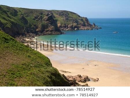 Picturesque Greve De Lecq Beach Jersey Uk Stok fotoğraf © haraldmuc