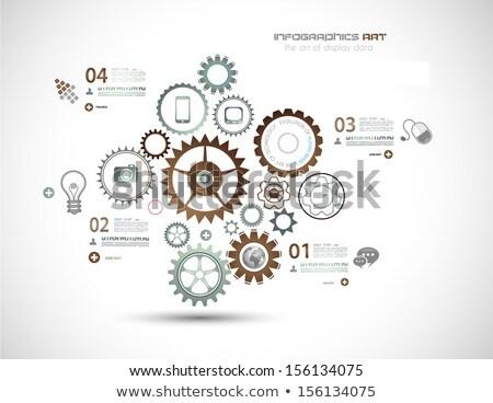 Infografía alto tecnología negocios como presentación Foto stock © DavidArts