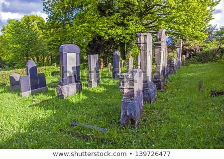Cemitério história ensolarado fora tradição lápide Foto stock © meinzahn