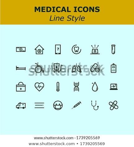 Szív absztrakt ikonok feliratok szimbólumok szett Stock fotó © kiddaikiddee