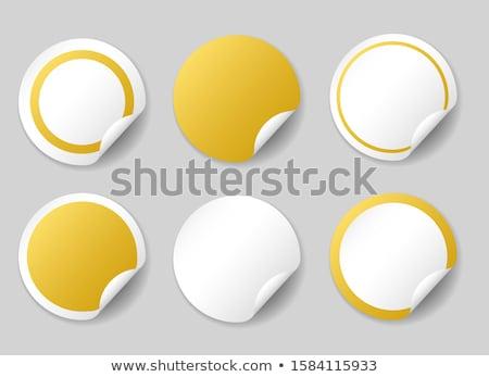 Beste prijs gouden sticky notes vector icon ontwerp Stockfoto © rizwanali3d