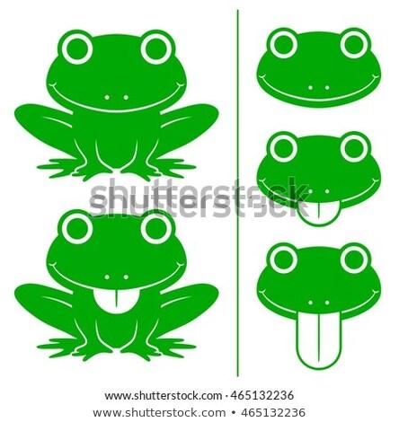 cartoon · verde · rana · divertente · animale - foto d'archivio © adrian_n